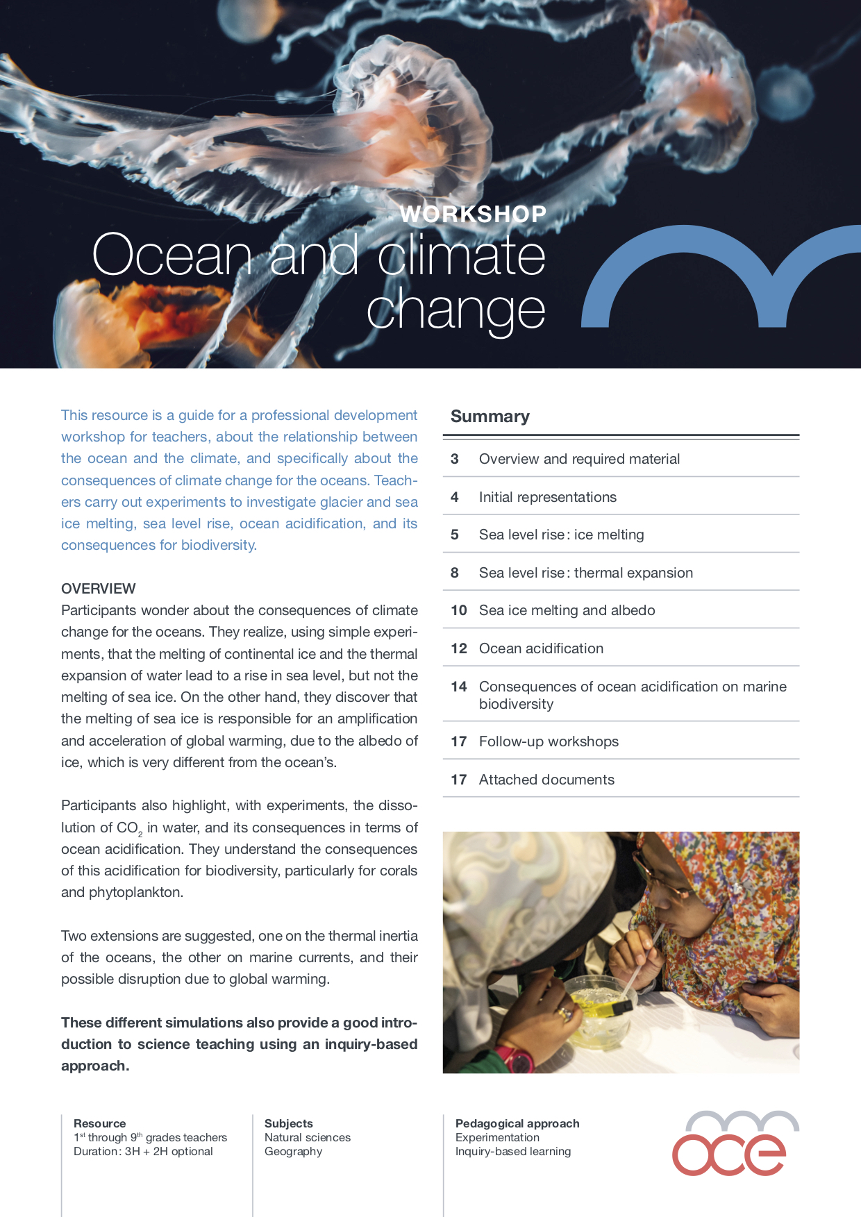 Ocean and cliamte change resource cover